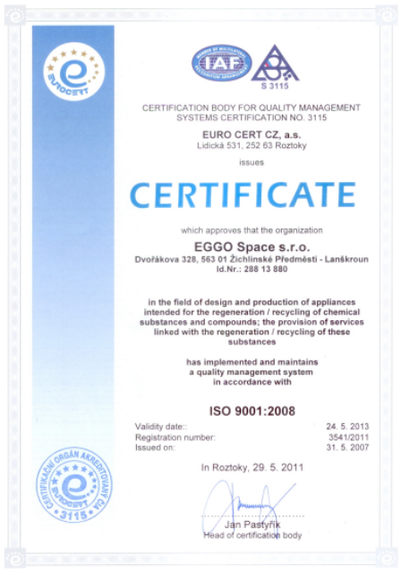 ISO Certification 9001